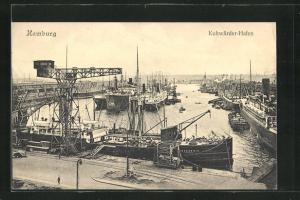 AK Hamburg-Veddel, Schiffe im Kuhwärder Hafen