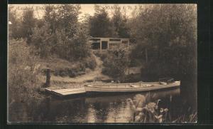 AK Hamburg-Klein Borstel, Garten des Landhaus Illies