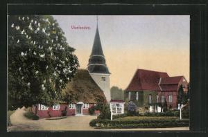 AK Hamburg-Vierlande, Teilansicht mit Kirche