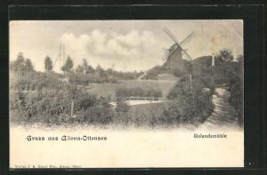 AK Hamburg-Ottensen, Partie an der Rolandsmühle