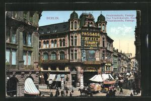 AK Berlin, Passage Theater, Friedrichstrasse