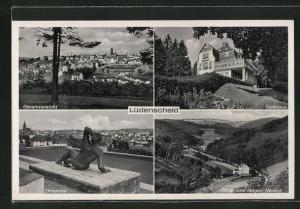 AK Lüdenscheid, Ehrenmal, Parkhaus, Blick vom langen Nacken