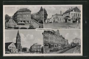 AK Lüdenscheid, Kluserplatz, Oberstdt, Knapperstrasse mit Christuskirche