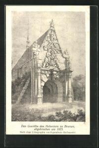 AK Bremen, Gewölbe des Hohentors, abgebrochen um 1823