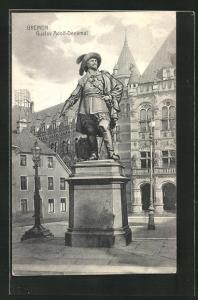 AK Bremen, Platz am Gustav-Adolf-Denkmal