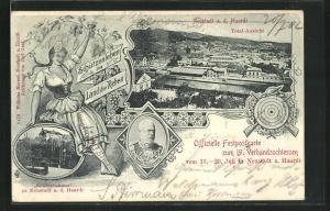 AK Neustadt a. d. Haardt, 19. Verbandsschiessen, Totalansicht, Schützenhaus, S. Kgl. Hoheit Prinz Ludwig von Bayern