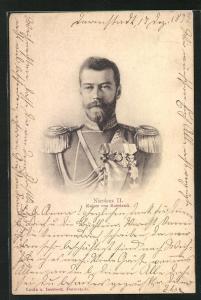 AK Nicolaus II., Kaiser von Russland