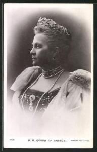 AK H.M. the Queen of Greece, Königin von Griechenland
