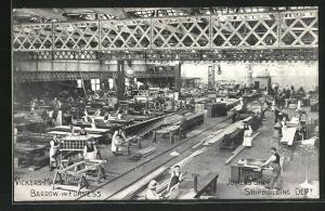 AK Barrow-in-Fruness, Vickers-Maxim Works, Joiners` Shop, Shipbuilding Dept.