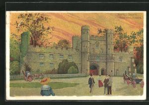 Künstler-AK Hastings, Battle Abbey