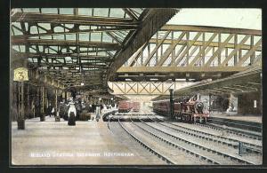 Künstler-AK Nottingham, Midland Station Interior