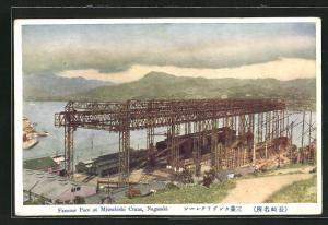 Künstler-AK Nagasaki, famous Pace at Mitsubishi Crane