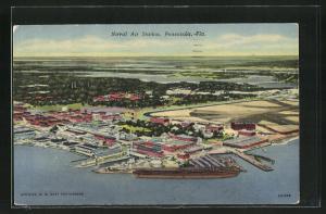 Künstler-AK Pensacola, FL, Naval Air Station