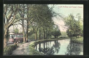Künstler-AK Kinver, Light Railway and Canal, Tramway