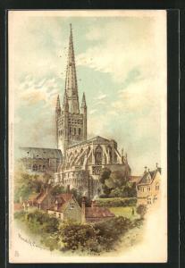 AK Norwich, Totalansicht der Kathedrale