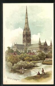 AK Salisbury, Totalansicht der Kathedrale