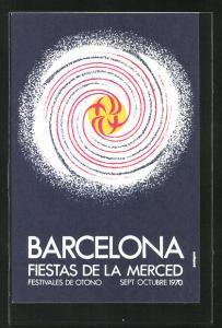 AK Barcelona, fiestas de la merced 1970, Festivales de Otono, Galaxie