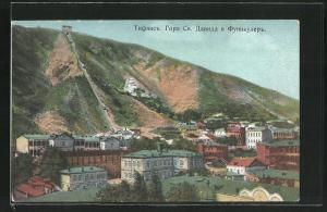 AK Tiflis, Funiculaire, Le Mont St. David