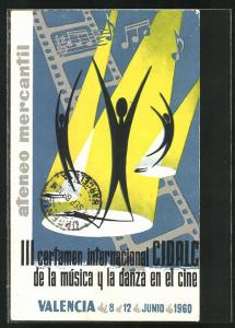 AK Valencia, III: certamen internacional C.I.D.A.L.C. de la música y la danza en el cine 1960