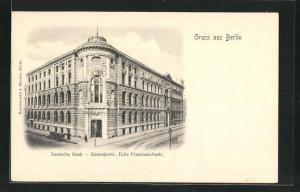 AK Berlin, Deutsche Bank, Kanonierstrasse Ecke Französischestrasse