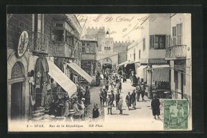 AK Sfax, Rue de la Republique, Strassenpartie