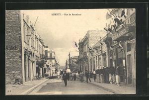 AK Bizerte, Rue de Barcelone, Strassenpartie