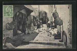 AK Sousse, La rue Halfouine, Strassenpartie