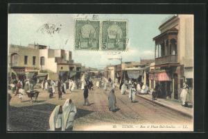 AK Tunis, Rue et Place Bab-Souika