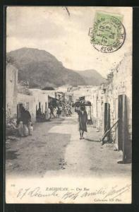 AK Zaghouan, Une Rue, Strassenpartie
