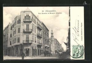 AK Alexandrie, Rue Rosette et Mosque Attarine
