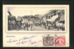 AK Alexandrie, Bazar arabe pres du Fort Napoleaon
