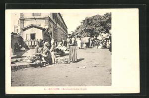 AK Le Caire, Marchands Arabes de pain