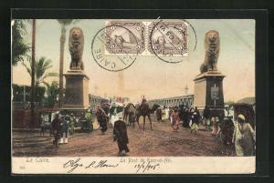 AK Le Caire, Le Pont de Kasr-el-Nil