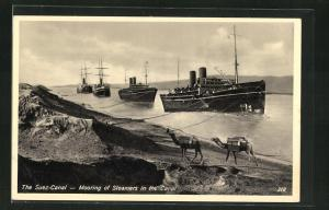 AK Suez-Canal, Mooring of Steamers in the Canal