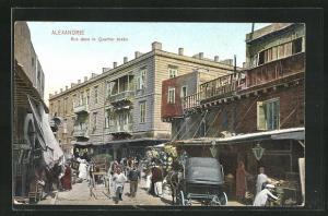 AK Alexandrie, Rue dans le Quartier Arabe