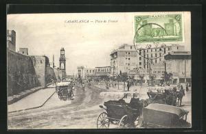AK Casablanca, Place de France, Partie im Ort