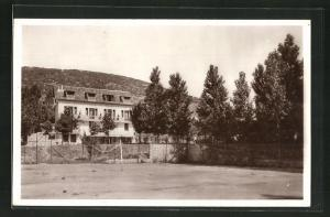 Foto-AK Immouzer, Hôtel des Troglodytes, Gebäudeansicht