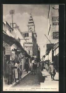 AK Tanger, Rue des Siaghines, Strassenpartie