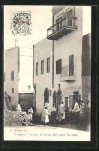 AK Casablanca, Un coin de rue pris de la porte Marrakech, Ortspartie