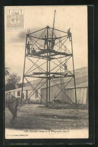 AK Fez, Poste de la Télégraphie sans fil, Baustelle