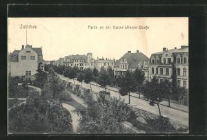 AK Züllichau / Sulechow, Partie an der Kaiser-Wilhelm-Strasse