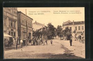 AK Sistov, Marktplatz Welischana im oberen Stadtteil