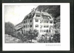 AK Bad Hofgastein, Kurhaus Bavaria im Frühling gegen Alpenmassiv gesehen