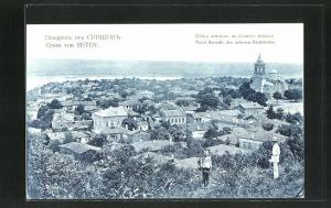 AK Sistov, Totalansicht des unteren Stadtteils