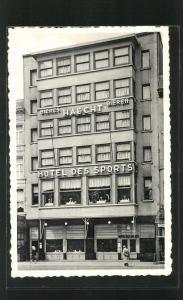 AK Antwerpen, Blick auf Hotel des Sports, Café-Restaurant, Place Reine Astrid 31-32