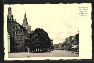 AK Sommerfeld / Lubsko, Markt mit Stadtpfarrkirche