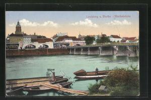 AK Landsberg / Gorzow Wlkp, Warthebrücke