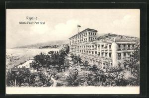 Künstler-AK Rapallo, Helvetia Palace Park Hotel