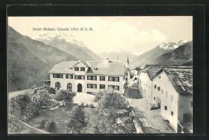 AK Guarda, Blick auf das Hotel Meisser