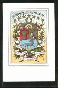AK Venezuela, Wappen Estados Unidos de Venezuela